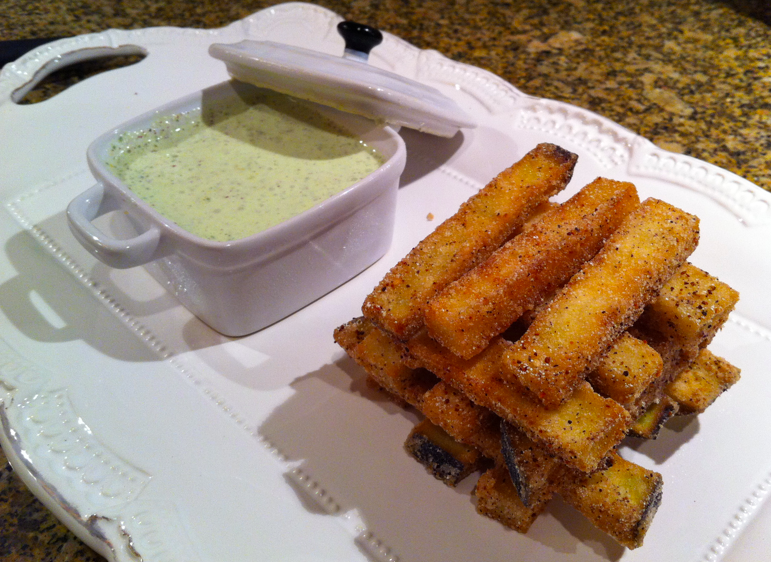Delicious Dish: Eggplant Fries | More Than Mary